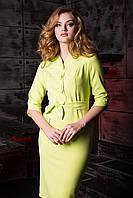 """Женское модное стильное короткое  платье в интернет магазине """"Шантель"""" (зеленое яблоко)"""