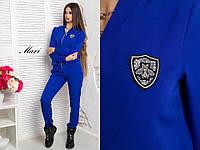 Костюм женский модный кофта на молнии и брюки креп-костюмка разные цвета 2Dmil729