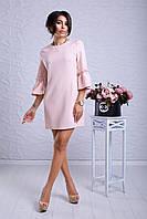 """Женское модное стильное короткое  платье в интернет магазине """"Скарлет"""" (кремовый)"""
