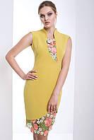 """Женское модное стильное короткое  платье в интернет магазине """"Злата"""" (оливковый)"""