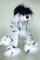 Новогодний сувенир, подарок собачка-марионетка игрушка веселая интересная необычная