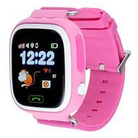 Умные детские часы с GPS трекером Smart Baby Watch Q100 Розовые