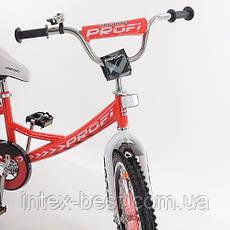 Детский двухколесный велосипед Profi Original boy Красный 18'' (G1845) с приставными колесиками, фото 2