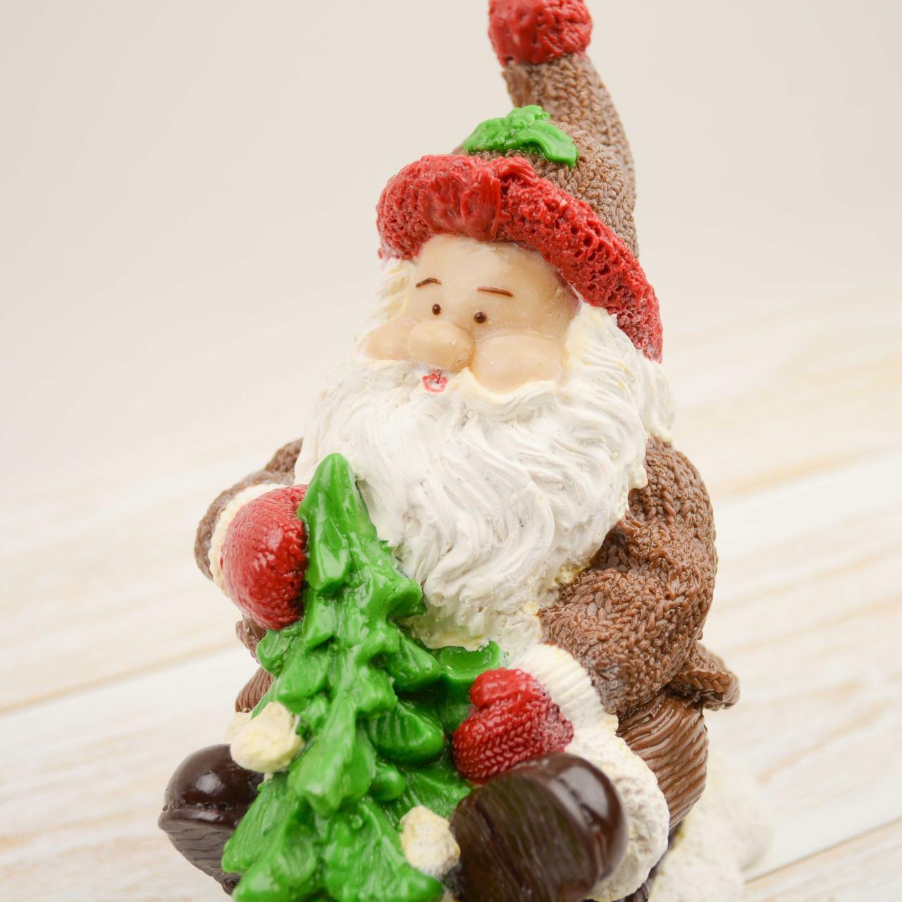 """Шоколадная фигура """"Дед мороз с елкой"""" ЭЛИТНОЕ сырье. Размер: 155х80х155мм, вес 600г, фото 1"""