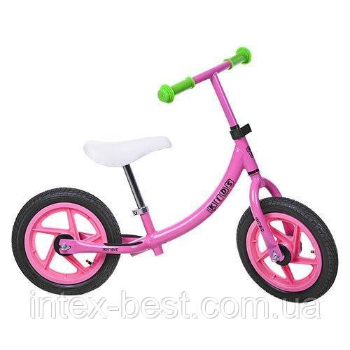 Детский беговел Profi Kids Розовый 12'' (M 3437A-2) с металлической рамой