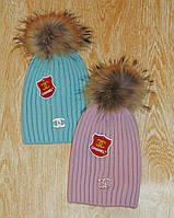 Стильная Женская шапка с бубоном - Chanel