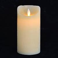 Свеча восковая LED, 7.5*15 с подвижным фитилем