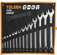 Набор ключей рожково-накидных TOLSEN, 6-32 мм (14 шт.)