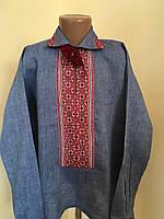 Сорочка вишита натуральний льон з комірцем для хлопчика 9-10 років