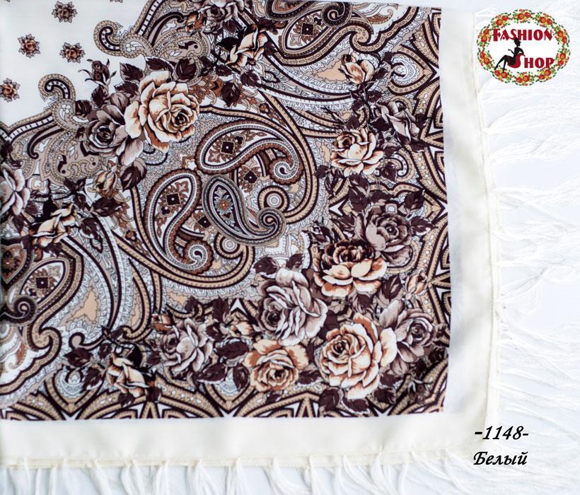 Павлопосадский платок Восточный цветок