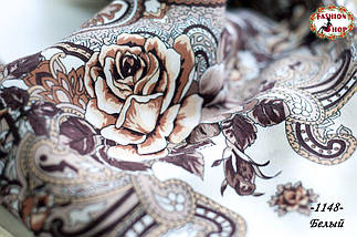 Павлопосадский платок Восточный цветок, фото 2