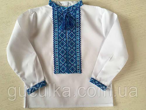 Сорочка біла вишита хрестиком ручної роботи для хлопчика на 1-2 роки ... 3ba69d209c58e