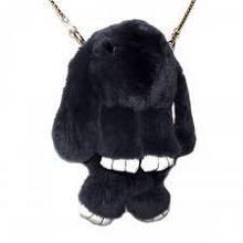 Сумка, рюкзак Кролик темно-серый цвет (искусственный мех)