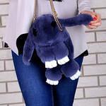 Сумка, рюкзак Кролик темно-серый цвет (натуральный мех), фото 3