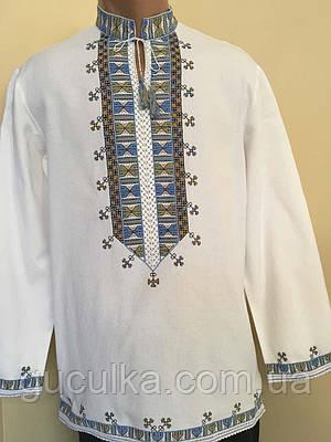 Біла вишита сорочка чоловіча вишита на полотні 48 розмір  продажа ... d3dbde5d6d421
