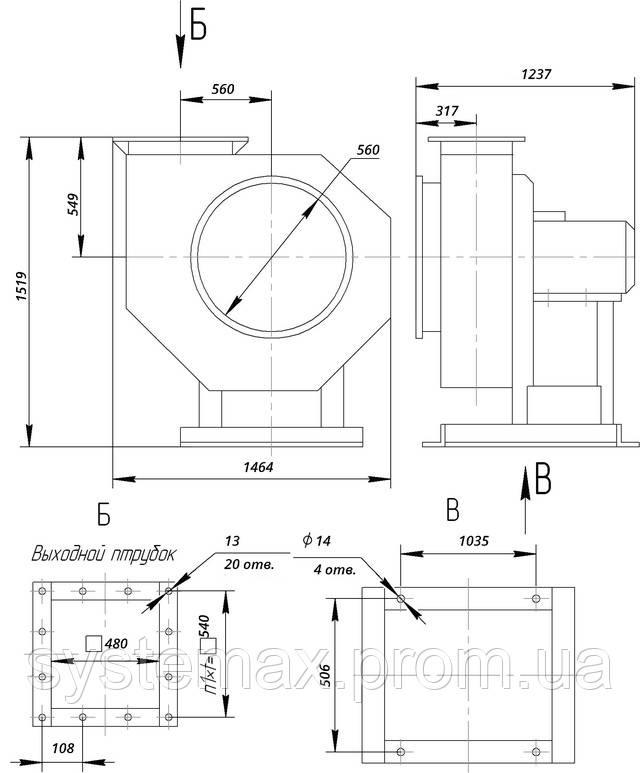 ВЦП 6-46 8 (ВРП 120-46 8) габаритные и присоединительные характеристики чертеж