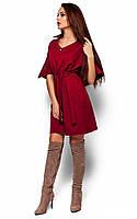 Ультрастильне марсалове повсякденне плаття Valery (S-M, M-L)
