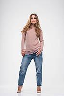 Женский свитерок OMNIA из трикотажного люрикса с круживом