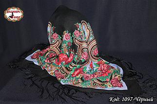 Павлопосадский чёрный платок Анна, фото 2