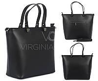 Кожаная сумка черная Virginia Conti 01545