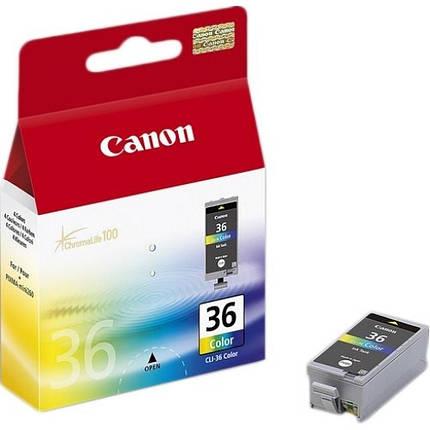 Чернильница Canon CLI-36 Color PIXMA iP100, mini260, фото 2