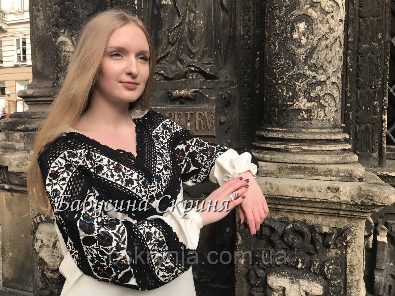 Сорочка Борщівська вишита жіноча.Вишиванка жіноча МВ-126-1