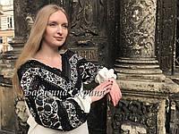 Сорочка Борщівська вишита жіноча.Вишиванка жіноча МВ-126-1, фото 1