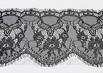Кружево - француз  (реснички), №027  черное (15 см)