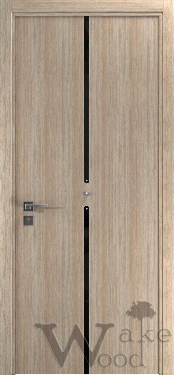 """Межкомнатные двери """"WakeWood"""" Cristal 03 (вертик. полоса с круглыми крист. Swarovski)"""