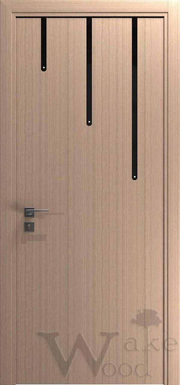 """Межкомнатные двери """"WakeWood"""" Cristal 02 (3 малых полосы)"""