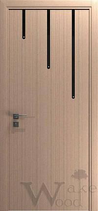 """Межкомнатные двери """"WakeWood"""" Cristal 02 (3 малых полосы), фото 2"""