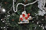 Новогодняя игрушка на елку коньки с бантиком, фото 4