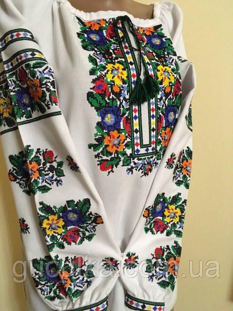 447906b339ed15 Вишиванка з квітковим орнаментом машинна вишивка - Інтернет-магазин