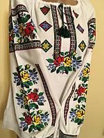 Вишиванка жіноча з квітковим орнаментом машинна вишивка 4d07f3a904890