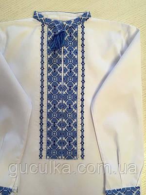 Вишита сорочка з голубим орнаментом для хлопчика 3-5 років  продажа ... 026bbae163301