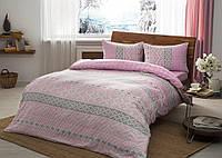 Двуспальное евро постельное белье TAC Betsy Pink Фланель