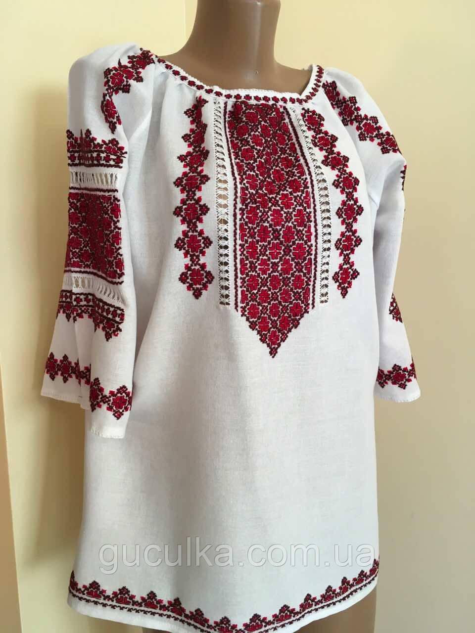 Вишита сорочка жіноча ручної роботи розмір 50 (2ХL) - Інтернет-магазин