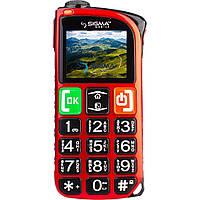 """Телефон БАБУШКОФОН Sigma Light Dual Sim Red 1.8"""" micro max 16 gb бабушкофон, мощный фонарик"""
