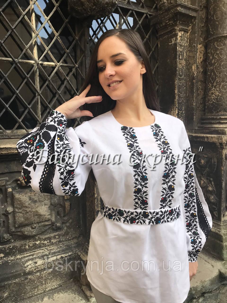 Борщівська сорочка вишита жіноча.Вишиванка жіноча МВ-126-2