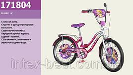 """Двухколесный велосипед 18"""" Фиолетовый (171804) с багажником"""