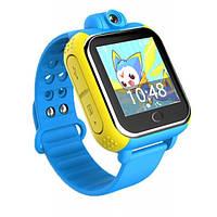 Q200 Умные детские часы с GPS трекером Smart Baby Watch Голубые (Android + Камера)