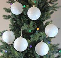 Шарики на елку  диаметр 50 мм,6 шт в комплекте