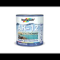 Краска для бассейнов Kompozit AK-12