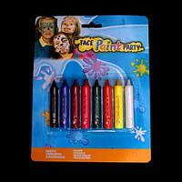 Грим - карандаши, набор 8 цветов