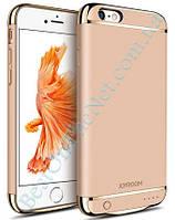 Дизайнерский аккумуляторный чехол Joyroom для iPhone 6 plus/6S plus на 3500mAh [Золотой]