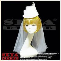 Белая шляпка цилиндр Наездница белая