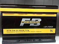 Акумулятор автомобільний 74 FB Premium