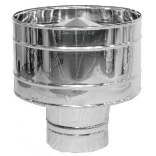 Дефлектор нержавейка Версия Люкс D-100 мм толщина 0,6 мм