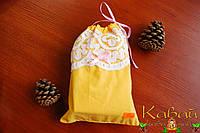 Мешочек подарочный декоративный из натурального хлопка на завязках