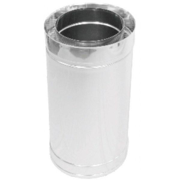 Труба дымоходная двухстенная нерж/нерж Версия Люкс L-1 м D-100/160 мм толщина 0,6 мм